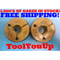 "NEW 1""  14 UNS 2A THREAD RING GAGE 1.0 GO NO GO P.D. = .9519 & .9463 INSPECTION"