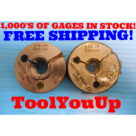 NICE 3/4  10 UNC 2A THREAD RING GAGE .75 GO NO GO P.D. = .6832 & .6773 TOOLING