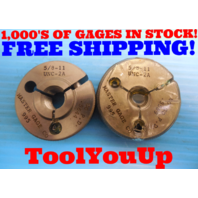 NICE 5/8  11 UNC 2A THREAD RING GAGE .625 GO NO GO P.D. = .5644 & .5589 TOOLING
