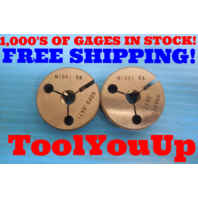 M10 X 1 6g METRIC THREAD RING GAGES 10.0 GO NO GO P.D. = .3671 & .3627 TOOLING