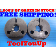 7/8 14 SAE THREAD RING GAGES .875 GO NO GO P.D. = .8286 & .8237 INSPECTION TOOLS
