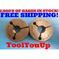 7/8 14 UN 2A BEFORE PLATE THREAD RING GAGES .8750 GO NO GO P.D. = .8260 & .8206