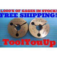 11/16 18 UNS 2A SPECIAL THREAD RING GAGES .6875 GO NO GO P.D. = .6490 & .6445
