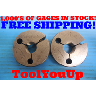 11/16 18 UNS 2A THREAD RING GAGES .68750 GO NO GO P.D. = .6500 & .6455 TOOLING
