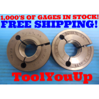 3/4 11 1/2 NH NATIONAL HOSE THREAD RING GAGES GO NO GO P.D. = 1.0060 & .9975