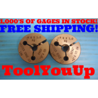 NICE! M8 X 1 6g METRIC THREAD RING GAGES 8.0 GO NO GO P.D. = .2884 & .2839 TOOLS