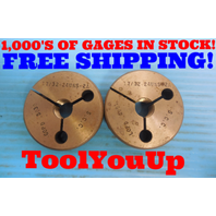 17/32 24 UNS 2A THREAD RING GAGES .53125 GO NO GO P.D. = .5030 & .4991 TOOLING