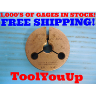 7/16 20 NF THREAD RING GAGE .4375 GO ONLY P.D. = .4050 INSPECTION TOOLING TOOLS