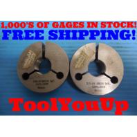 7/8 18 UNS 2A SPECIAL THREAD RING GAGES .875 GO NO GO P.D. = .8389 & .8329 TOOLS