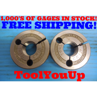 13/16 18 NS THREAD RING GAGES .8125 GO NO GO P.D. = .7720 & .7674 INSPECTION