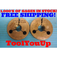 11/16 16 UNS 2A THREAD RING GAGES .6875 GO NO GO P.D. = .6455 & .6407 INSPECTION