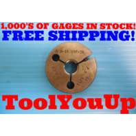 5/8 18 UNF 2A THREAD RING GAGE .62500 GO ONLY P.D. = .5875 INSPECTION TOOLS