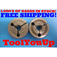 5/8 18 UNF 2A THREAD RING GAGES .625 GO NO GO P.D. = .5865 & .5828 INSPECTION
