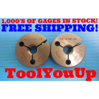 5/8 18 UNF 2A THREAD RING GAGES .6250 GO NO GO P.D. = .5875 & .5828 INSPECTION
