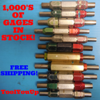 22 PC SMOOTH PIN PLUG GAGE LOT .625 .6875 UNDER AND OVER SIZE GO NO GO 19 SIZES
