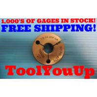 7/8 14 UNF 2A THREAD RING GAGE .8750 GO ONLY P.D. = .8270 INSPECTION TOOLING