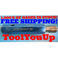 9/16 18 UNJF 2B THREAD PLUG GAGE .5625 NO GO ONLY P.D. = .5323 INSPECTION TOOLS