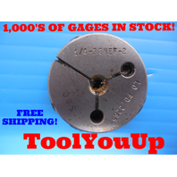 1/4 32 NEF 2 THREAD RING GAGE .250 NO GO ONLY P.D. = .2265 INSPECTION TOOLING