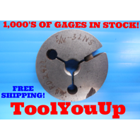 5/16 32 NS THREAD RING GAGE .3125 GO ONLY P.D. = .2922 INSPECTION QUALITY TOOLS