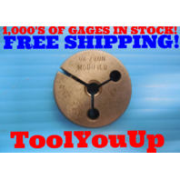 1/4 28 UN MODIFIED THREAD RING GAGE .250 NO GO ONLY P.D. = .2310 INSPECTION TOOL