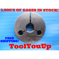 1/2 20 UNF THREAD RING GAGE .50 GO ONLY P.D. = .4662 INSPECTION QUALITY TOOLING