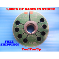 9/16 - 18 UNF 3A THREAD RING GAGE .5625 GO ONLY P.D. = .5264 INSPECTION TOOLING