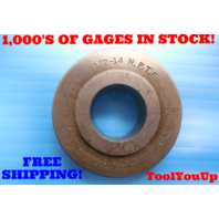 1/2 - 14 N.P.T.F. 6 STEP PIPE THREAD RING GAGE .500 NPTF INSPECTION QUALITY TOOLING