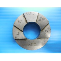 3/4 14 NPTF 6 STEP PLAIN PIPE THREAD RING GAGE .75 N.P.T.F. INSPECTION QUALITY