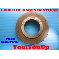 3/4 - 14 NPTF 6 STEP PLAIN PIPE THREAD RING GAGE .750 N.P.T.F. INSPECTION TOOLS