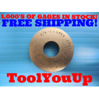 1/4 18 NPTF 6 STEP PLAIN PIPE THREAD RING GAGE .25 N.P.T.F. INSPECTION TOOLS
