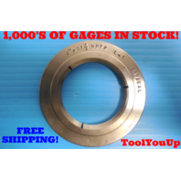"2"" 11 1/2 NPTF L-1 PIPE THREAD RING GAGE 2.0 N.P.T.F. L1 INSPECTION TOOLING"
