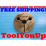 5/16 50 NS 3 THREAD RING GAGE .3125 GO ONLY P.D. = .2995 INSPECTION QUALITY TOOL