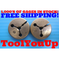 1/4 28 NF 2 THREAD RING GAGES .250 GO NO GO P.D.'S = .2268 & .2237 INSPECTION