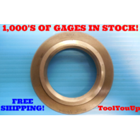 """2"""" 11 1/2 NPTF L2 PIPE THREAD RING GAGE 2.0 N.P.T.F. L-2 INSPECTION QUALITY TOOL"""