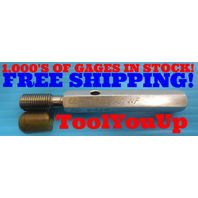 7/16 20 NF THREAD PLUG GAGE .4375 GO ONLY P.D. = .4050 INSPECTION QUALITY TOOLS