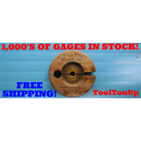 5 - 50 NS THREAD RING GAGE #5 50.0 GO ONLY P.D. = .1120 INSPECTION QUALITY TOOLS