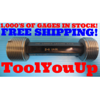 "2"" 8 UN 3B THREAD PLUG GAGE 2.00 GO NO GO P.D.'S = 1.9188 & 1.9264 INSPECTION"