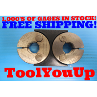 13/16 20 UNEF 2A THREAD RING GAGE HOLDER .81250 GO NO GO P.D.'S = .7787 & .7743