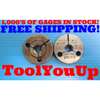 5/8 11 NC 2 THREAD RING GAGE .625 GO NO GO P.D.'S = .5660 & .5618 INSPECTION