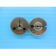6 40 NF 3 THREAD RING GAGES #6 40.0 GO NO GO P.D.'S = .1218 & .1201 INSPECTION