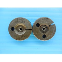 5 40 UNC 2A THREAD RING GAGES #5 40.0 GO NO GO P.D.'S = .1080 & .1054 INSPECTION
