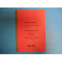 OPERATION MANUAL EXTENDED PROGRAM EDITING FUNCTION F15 FORMAT MORI SEIKI