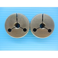 1/4 18 NPSF PIPE THREAD RING GAGE .25 N.P.S.F. GO NO GO P.D.'S = .4852 & .4817