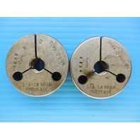1/4 18 NPSM PREPLATE PIPE THREAD RING GAGE .25 N.P.S.M. GO NO GO PDS .4871 .4836