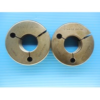 1 3/8 12 UNF 3A THREAD RING GAGE 1.37500 GO NO GO P.D.'S = 1.3209 & 1.3162 TOOLS