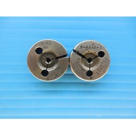 #6 - 40 NF 3 GO NO GO THREAD RING GAGES P.D.'S = .1218 & .1201 INSPECTION TOOLS