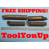 "LOT OF 4 1 1/4"" DIA BORING BARS MISSING HARDWARE KENNAMETAL & ?? MACHINE TOOLING"