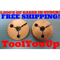 7/16 20 UNJF 3A THREAD RING GAGES GO NO GO .4375 P.D.'S = .4050 & .4019 TOOLING