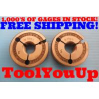 7/8 12 UN 2A PREPLATE THREAD RING GAGES GO NO GO .875 P.D.'S = .8180 & .8128
