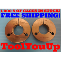 1.628 36 NS THREAD RING GAGES GO NO GO P.D.'S = 1.6098 & 1.6080 INSPECTION TOOLS